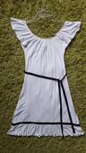 Bílé elastické šaty zn. Amisu, 36