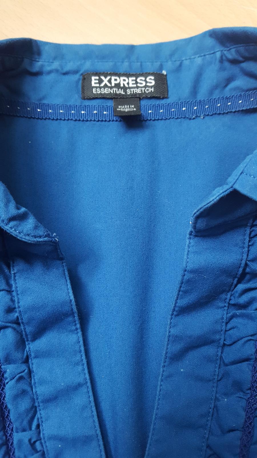 Elegantní modrá košile zn.Express - Obrázek č. 2