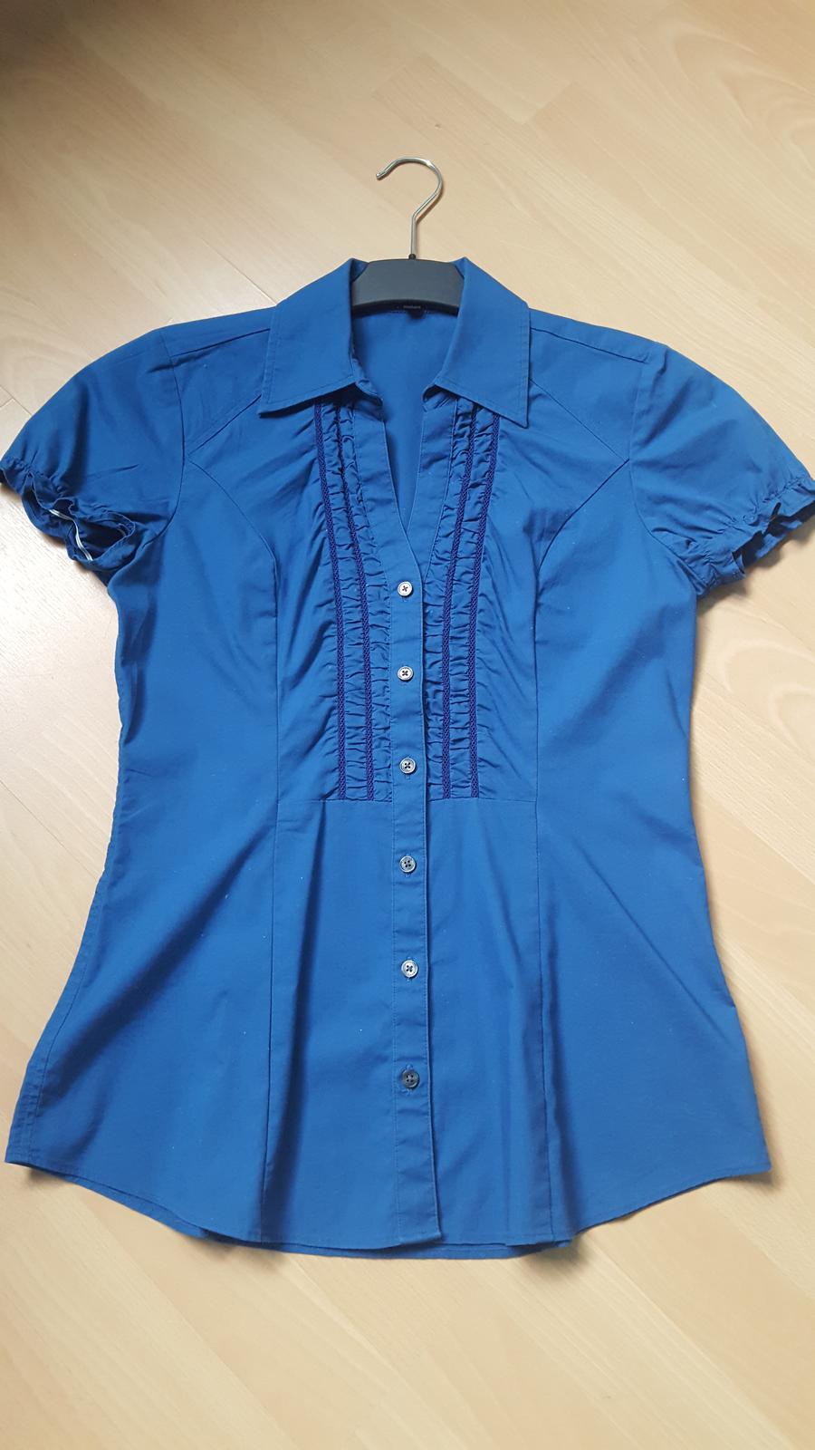 Elegantní modrá košile zn.Express - Obrázek č. 1