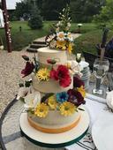 Modelované květiny na dort,