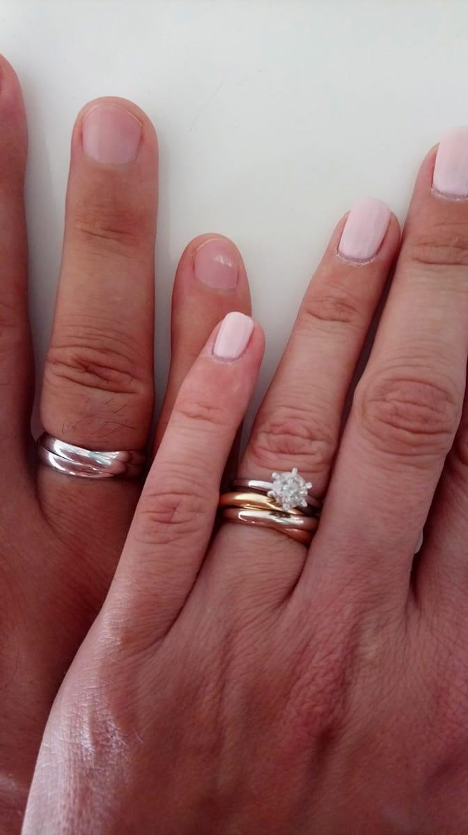 Nasa wellness svadba 5.10.2018 - Po sklamani zo stavu ocelovej obrucky pre nastavajuceho sme mu dokupili zlatu... Uz je doma :)