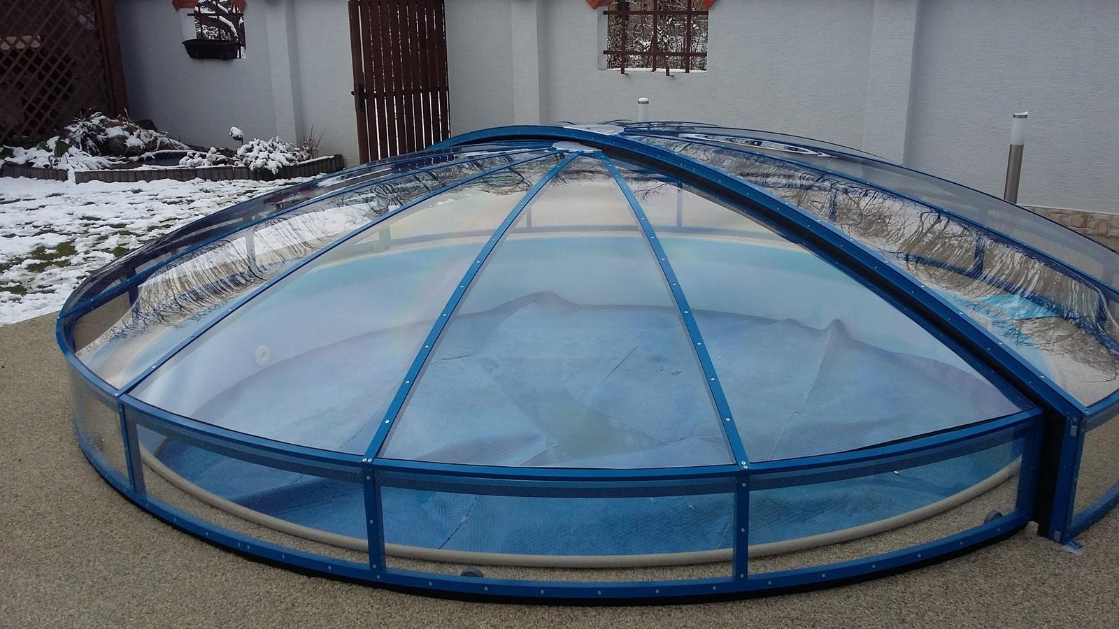 Prekrytie kruhového bazéna - Obrázok č. 1