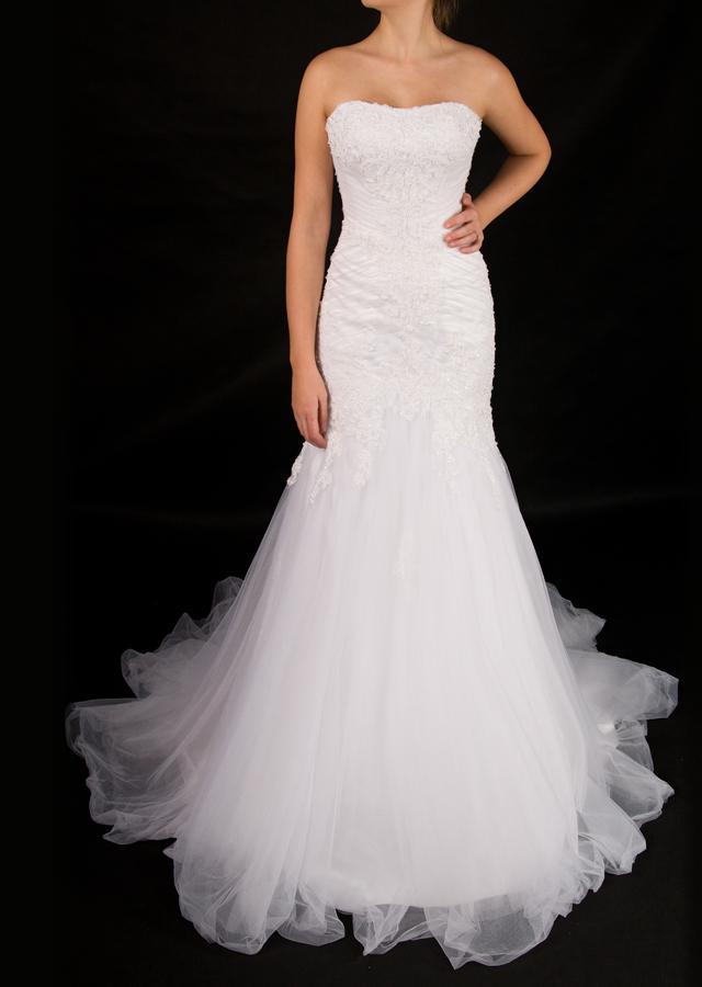 Bílé svatební šaty  - Obrázek č. 1
