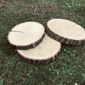 Dřevěné koláče - pravé, masivní dřevo,