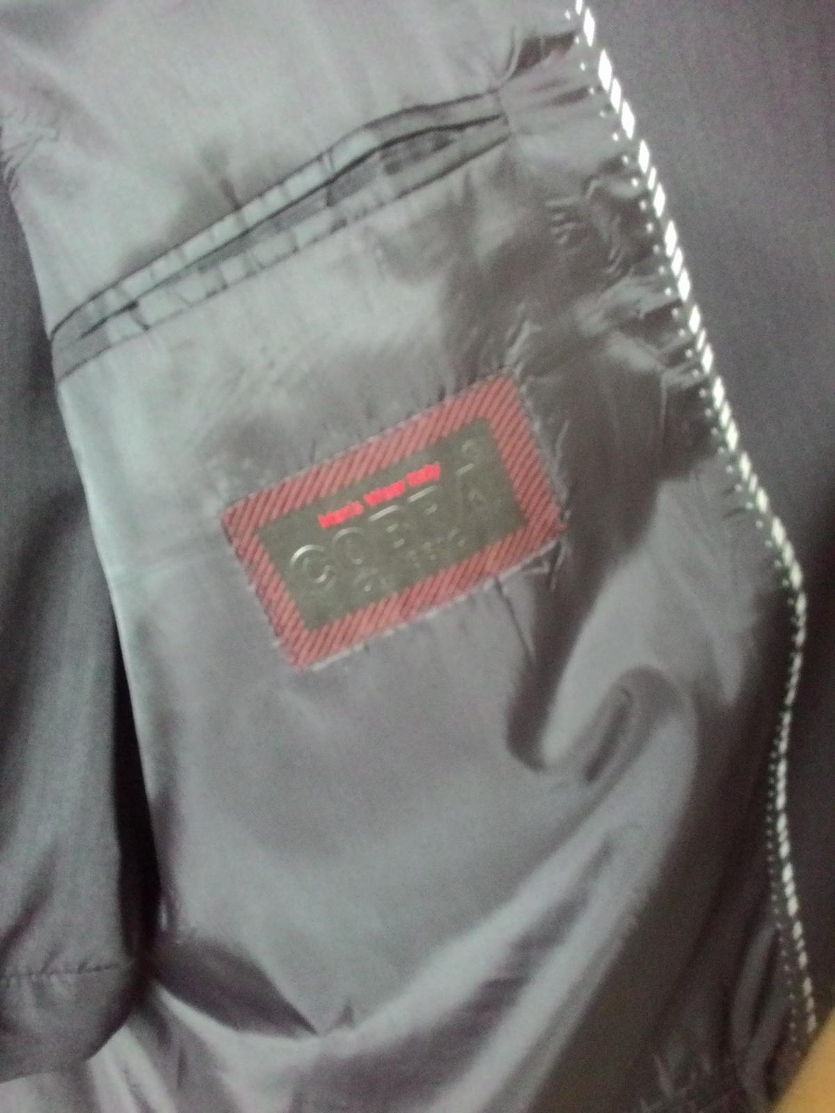 Pánsky čierny oblek č.54 - Obrázok č. 4