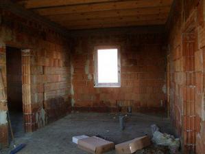 tu bude kúpelňa a pred ňou ešte vymurujeme malú špajzku