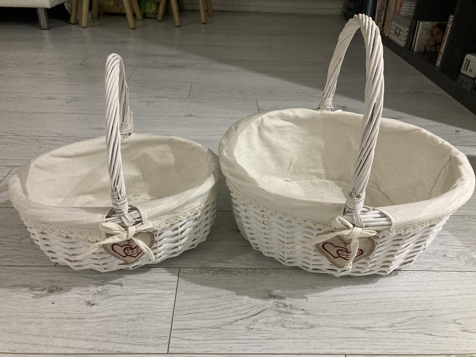 biele košíky - Obrázok č. 1