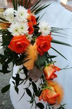 Moje nádherná svatební kytice..