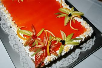 Náš vynikající svatební dort na způsob Tiramisu..
