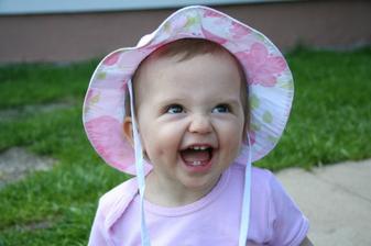Naše milovaná holčička Terezka - léto 2008..