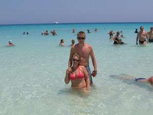 v ozajstnom raji,biely piesok a azúrovo modré more