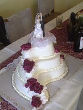 takový svatební dort to bude :-), akorát laděný do modra
