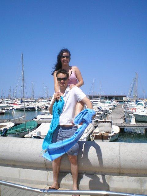 Dominka a andrejko 25.09.2010 - leto v Španielsku - Dénia