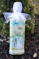 svadobná darčeková fľaša