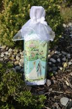 svadobná darčeková fľaša s čipkou