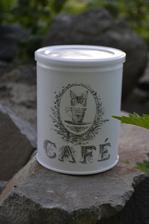 doza na kávu vo vintage štýle