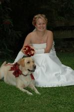 nevěsta se svým pejskem, krásná fotka, určitě se nechám inspirovat :-)