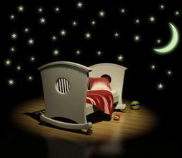 Svítící - hvězdy s měsícem