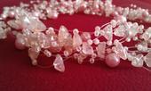 Růžové mimi perličky s kamínky,