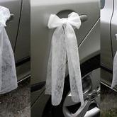 bude na autě ženicha a nevěsty