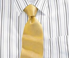 ráda bych aby měl žlutou kravatu, svatba se nese v žluto-zelená, a zelená by mu asi moc neslušela