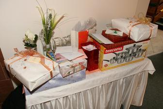 Část svatebních darů