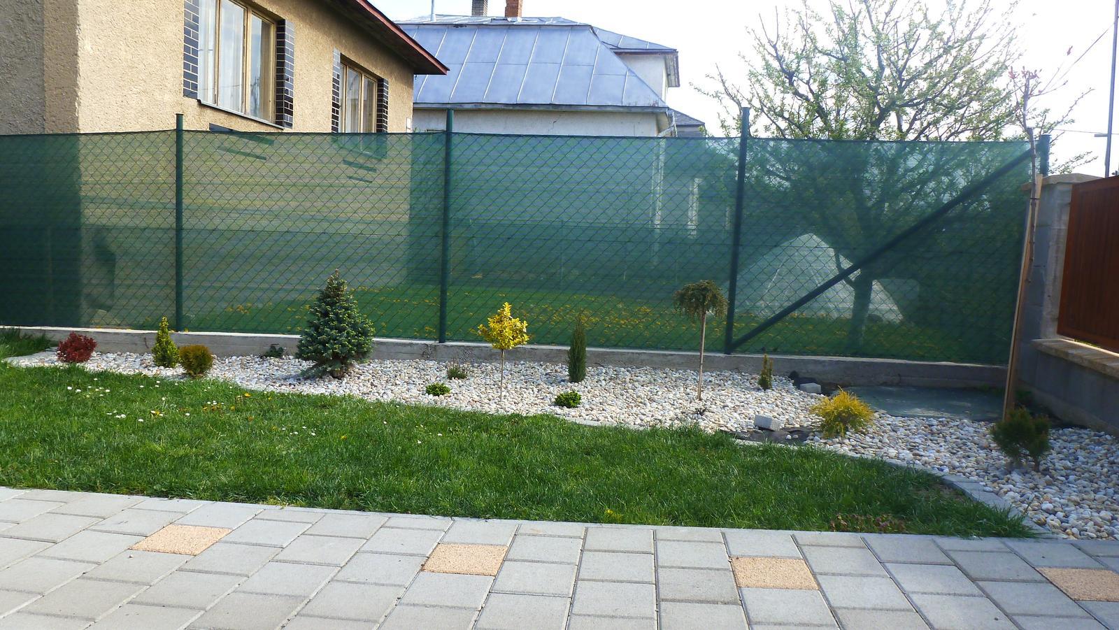 Náš dvor a záhrada 2014 - mix stromcekov, ktore sa mi pacia