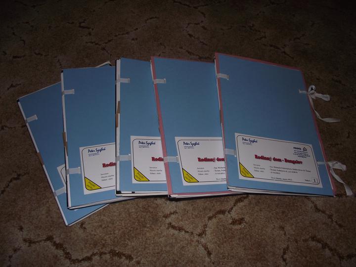 DM House - reálne výdavky: projektová dokumentácia 1335,- eur