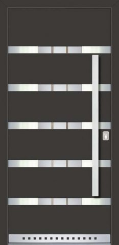 DM House Inspire - už namontované vchodové dvere