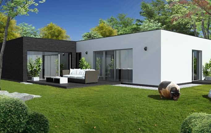 DM House Inspire - farebná kombinácia fasády ako u nás a aj s oknami ;)
