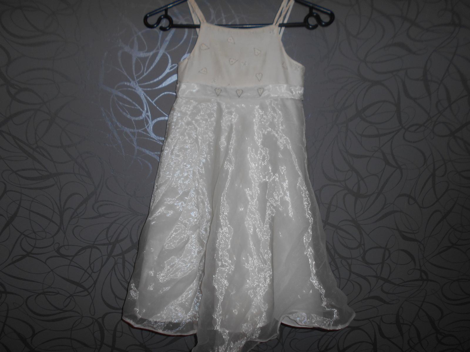 společenské šaty pro družíčku -srdíčka - Obrázek č. 1