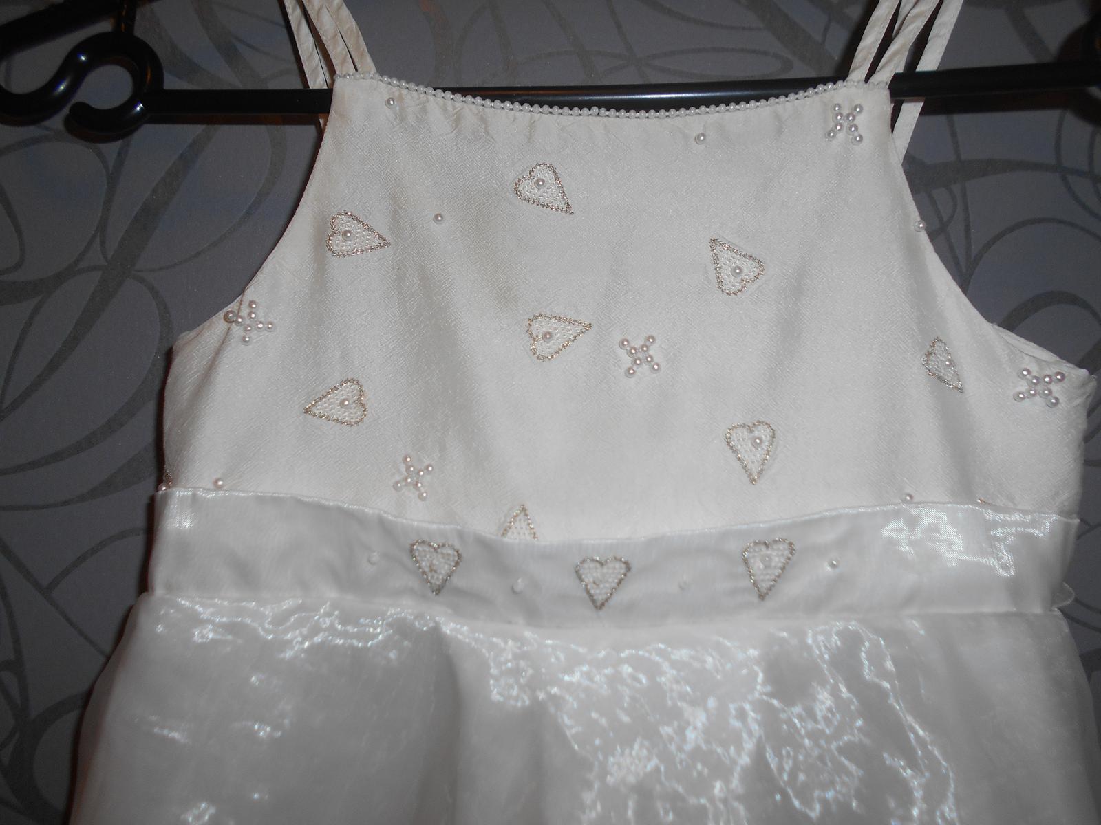 společenské šaty pro družíčku -srdíčka - Obrázek č. 2