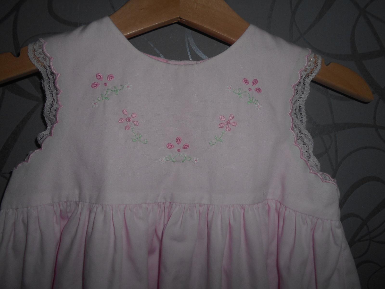 růžové šatečky 6-9měsíců - Obrázek č. 1