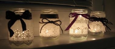 trocha tvoření - také jsem si zkoušela vyrobit nějaké lampičky na večer...;-)