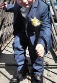 Chlapecký společenský oblek vel. 3-4 roky, 104