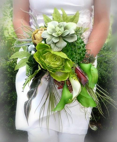 Svatební kytice Jungle + korsáž - Obrázek č. 1