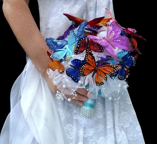 Svatební kytice Bjorg butterfly + korsáž - Obrázek č. 1