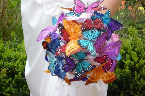 Svatební kytice Bjorg butterfly + korsáž - Obrázek č. 4