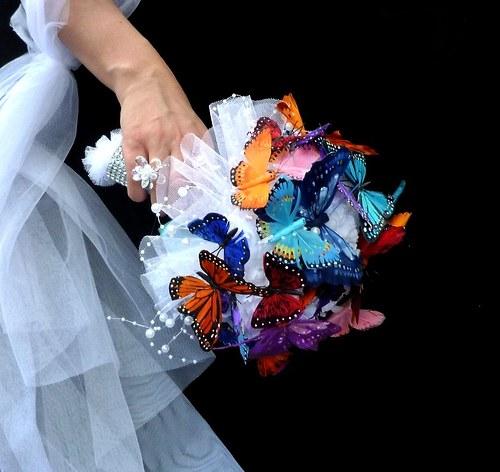 Svatební kytice Bjorg butterfly + korsáž - Obrázek č. 2