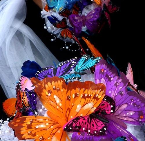 Svatební kytice Bjorg butterfly + korsáž - Obrázek č. 3