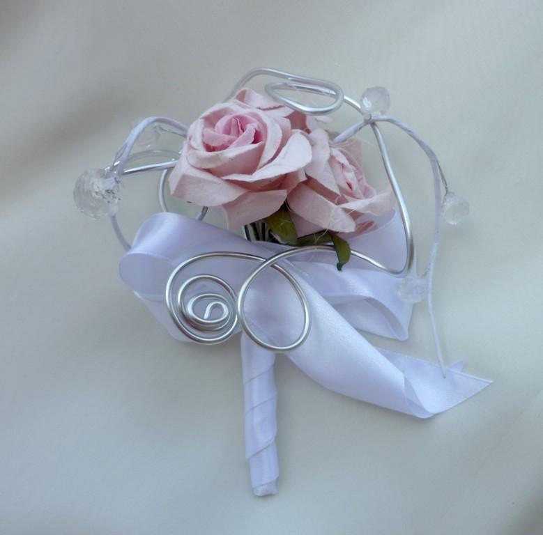 Svatební kytice Růže paper& crystal - Obrázek č. 3