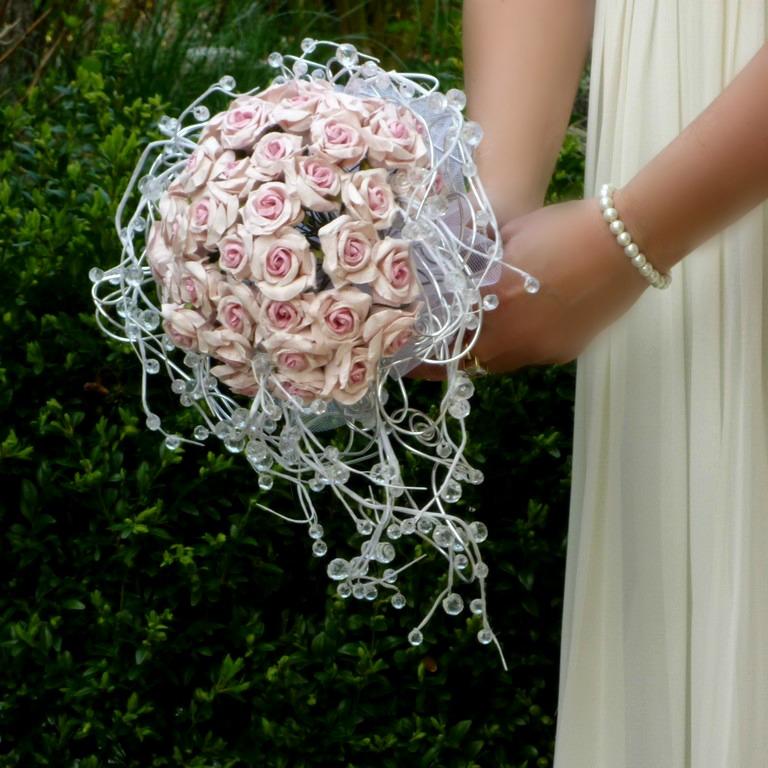 Svatební kytice Růže paper& crystal - Obrázek č. 4