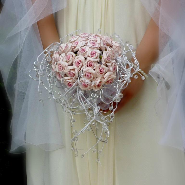 Svatební kytice Růže paper& crystal - Obrázek č. 5