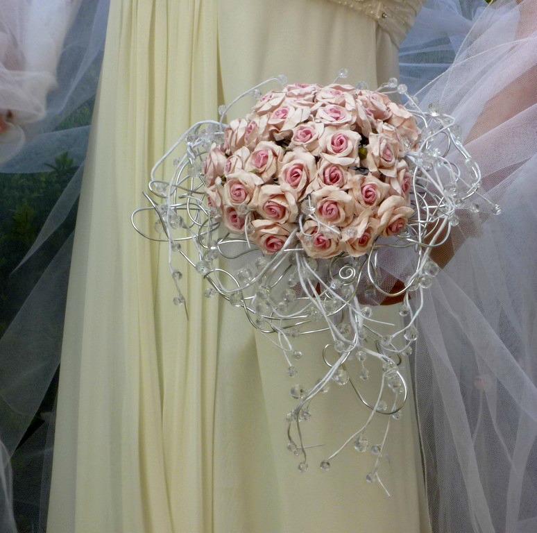 Svatební kytice Růže paper& crystal - Obrázek č. 6