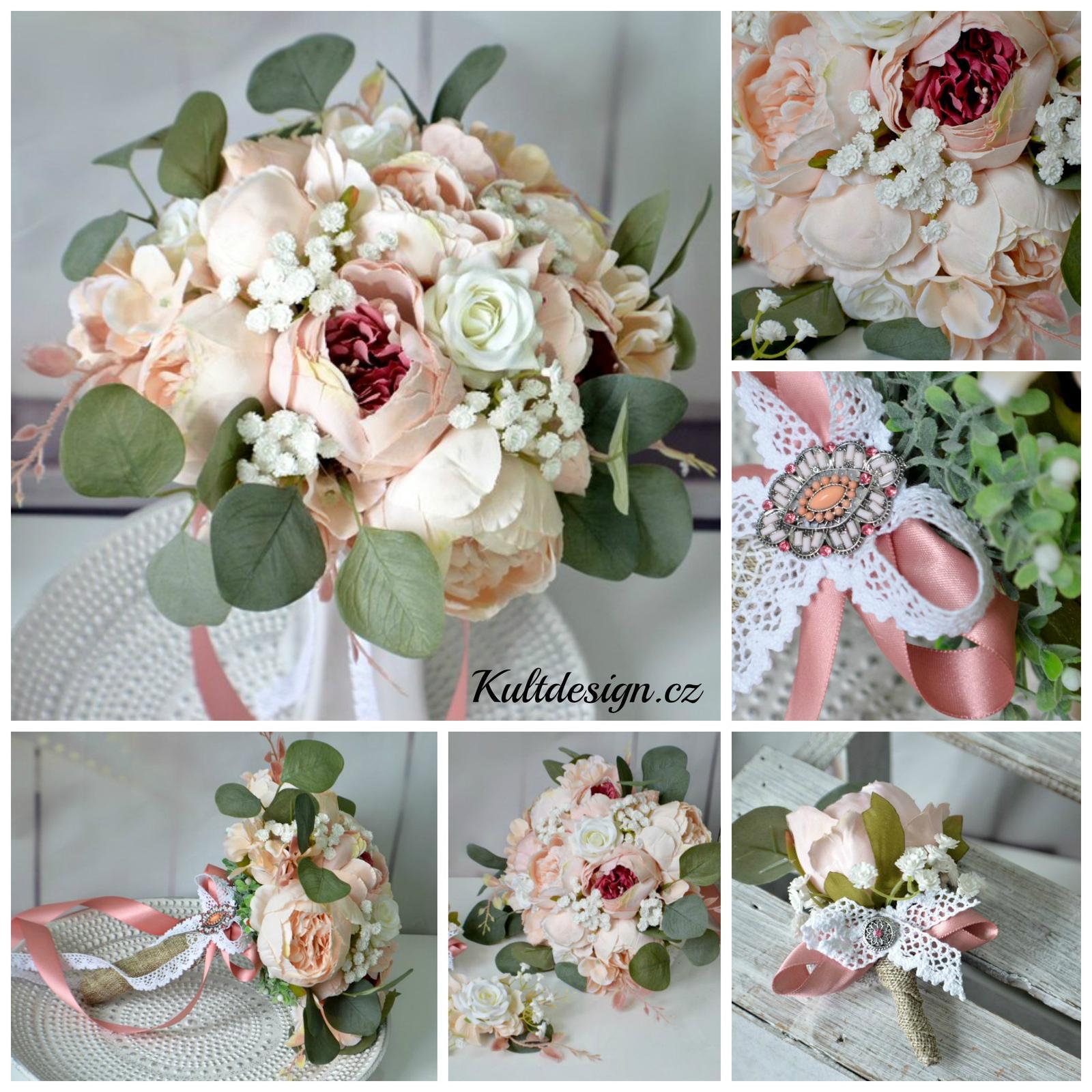 Svatební sety z umělých květin - http://www.kultdesign.cz/666design-cz/eshop/32-1-SVATEBNI-KYTICE