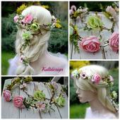 Květinová girlanda do vlasů ,