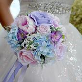 Svatební kytice Lilian + korsáž ,