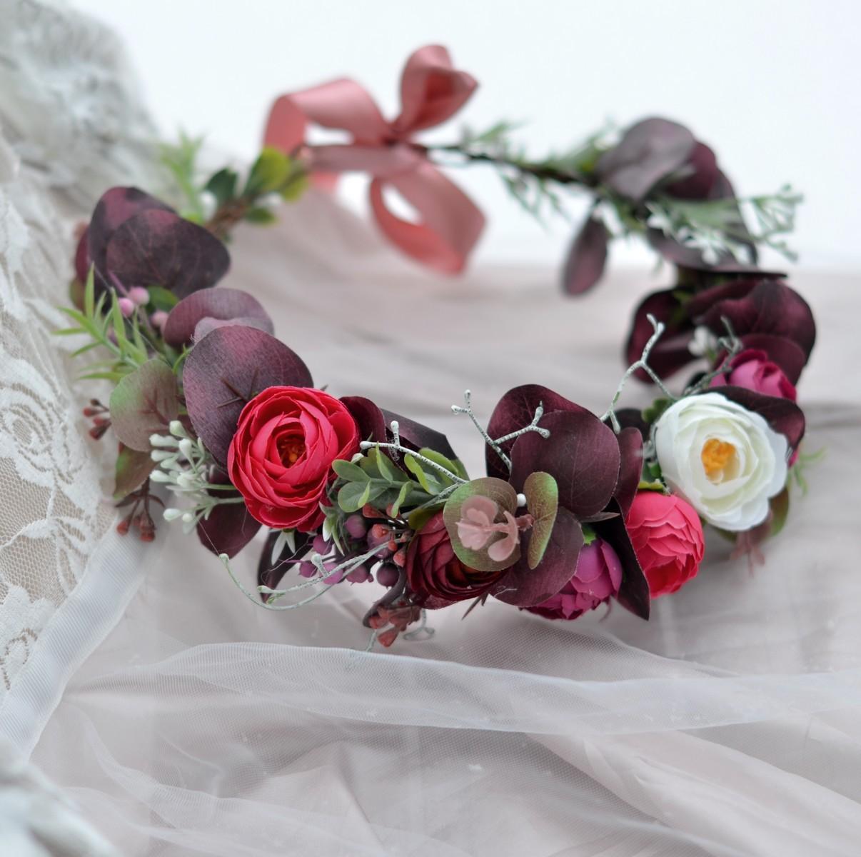 Květinové věnečky z umělých květin - Obrázek č. 1