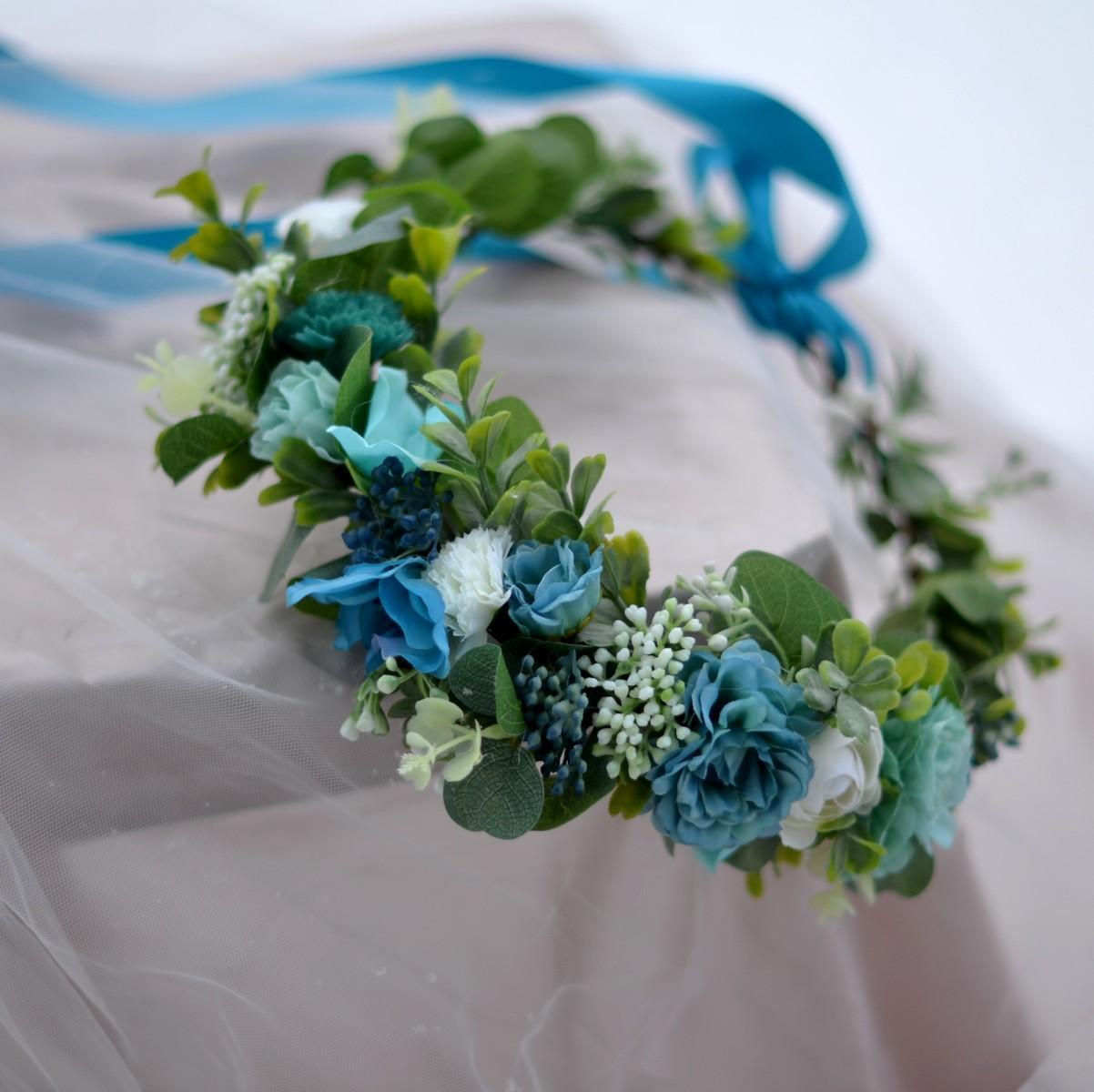 Květinové věnečky z umělých květin - Obrázek č. 2