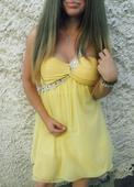 Žlté šaty na rôzne slávnostné podujatie, XS